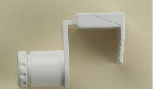 Кронштейн нижний для боковой фиксации рулонных жалюзи Зебра.