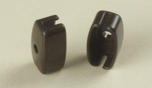 Заглушка нижней планки для рулонной шторы коричневая